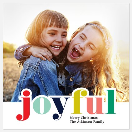 Colors of Joy Holiday Photo Cards