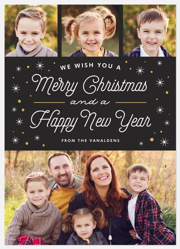 Snow Twinkles Holiday Photo Cards