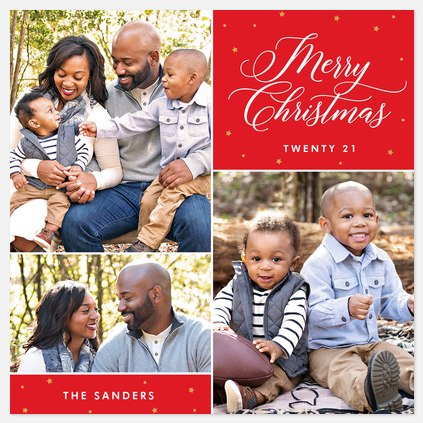 Simple Phrase  Holiday Photo Cards