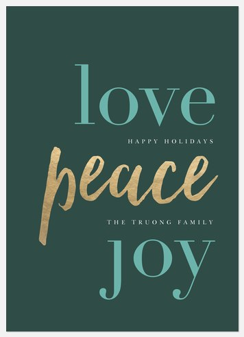 Peaceful Shine Holiday Photo Cards