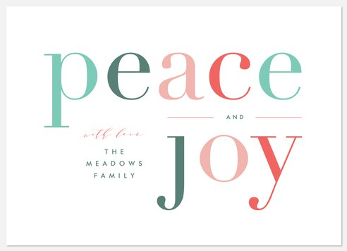 Joyous Peace Holiday Photo Cards