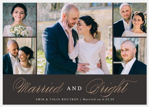 Married & Bright Holiday Photo Cards
