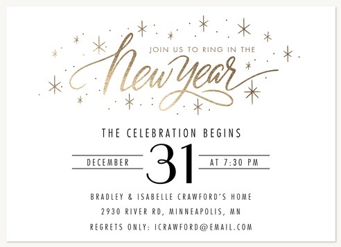 Holiday party invitations new year sparkles stopboris Images