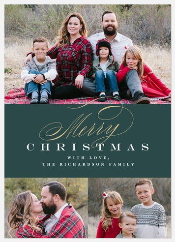 Classic Christmas Wish Holiday Photo Cards