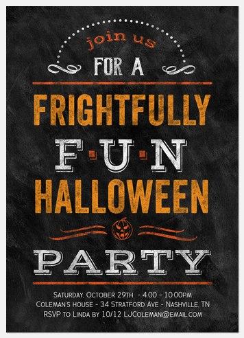 Frightful Thrills Halloween Photo Cards