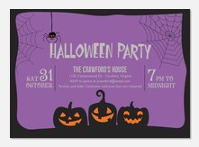 Wicked Webs - Halloween Party Invitations