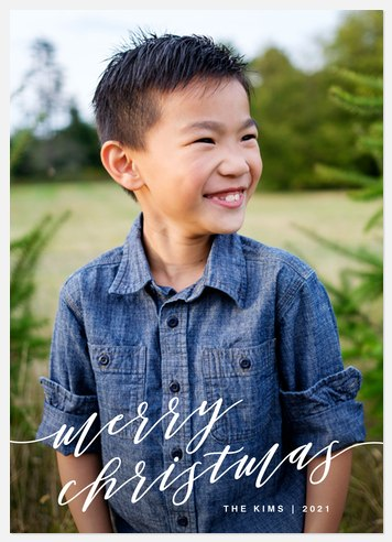Longhand Wishes Holiday Photo Cards