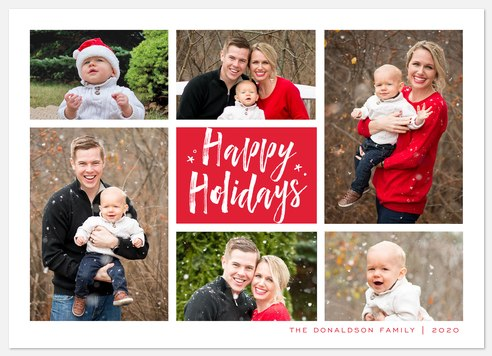 Grid of Tidings Holiday Photo Cards