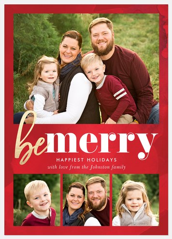 Glow & Be Merry Holiday Photo Cards