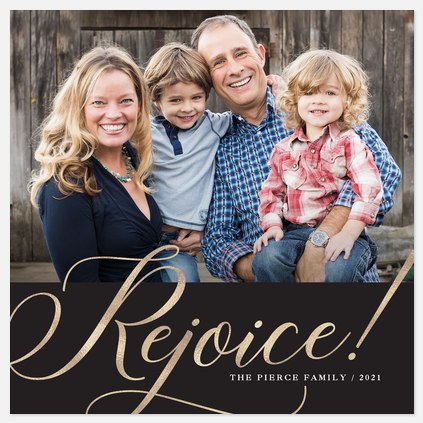Rejoicing Radiance Holiday Photo Cards