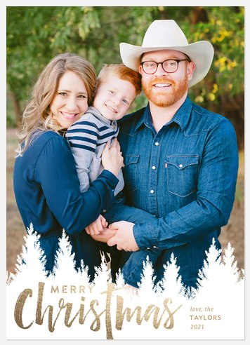 Into The Pines Holiday Photo Cards