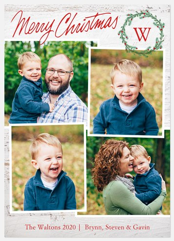 Namesake Collage Holiday Photo Cards