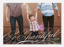 Thanksgiving Cards - Swirled Thankfulness