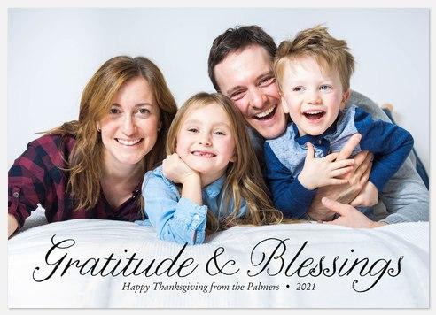 Elegant Gratitude Thanksgiving Cards