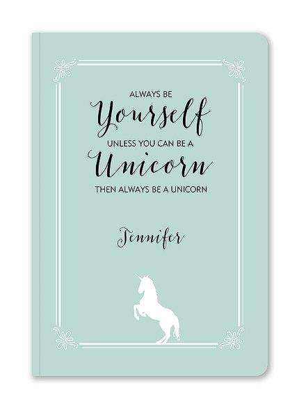Custom Journals, Be A Unicorn Design
