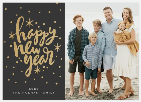 Happy Sparklers Holiday Photo Cards