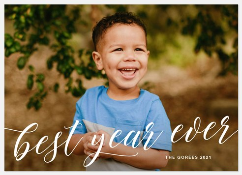 Stated Script Holiday Photo Cards