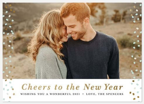 Confetti Popped Holiday Photo Cards
