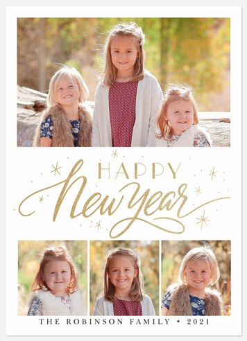 Sparks Aglow Holiday Photo Cards