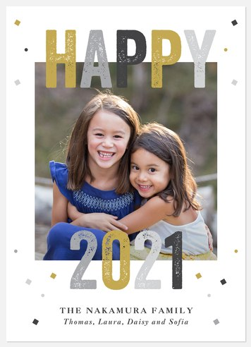A Big Year Holiday Photo Cards
