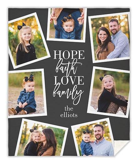 Family Snaps Custom Blankets