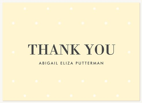 Bat Mitzvah Thank You Cards, Light Dots Design