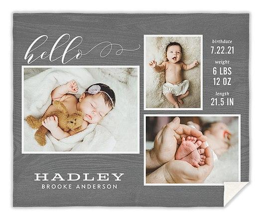 Precious Hello Custom Blankets