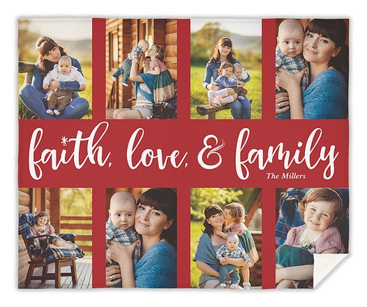 Family Faith Custom Blankets