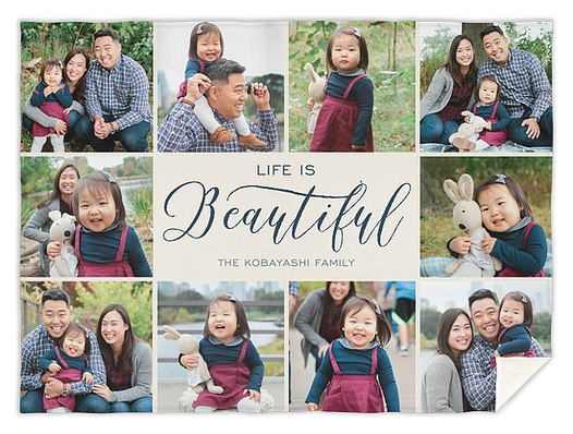 It's A Beautiful Life Custom Blankets