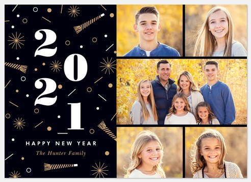 Midnight Party Holiday Photo Cards