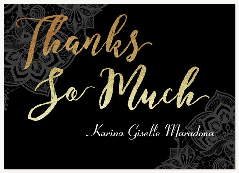 Quinceanera Thank You Cards Radiant Writing