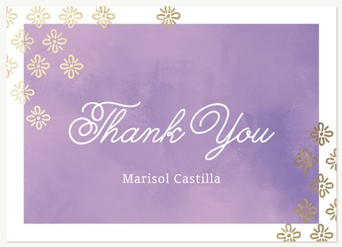 Quinceanera Thank You Cards Stamped Radiance