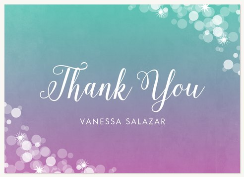 Quinceanera Thank You Cards Dream Sparkles