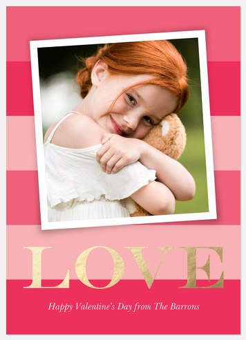 Adorable Snap Valentine Photo Cards