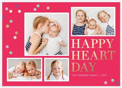 Heart Day Valentine Photo Cards