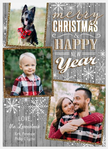Winterland Rustic Holiday Photo Cards