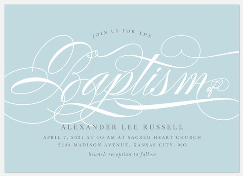 Sweetly Scripted Baptism Christening Invitations