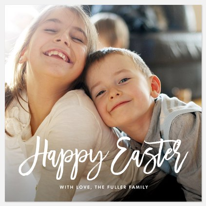 Happily Scripted Easter Photo Cards