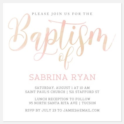 Faithfilled Baptism Christening Invitations