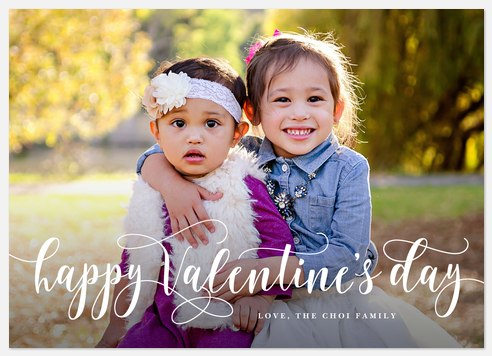 Valentine Flourish Valentine Photo Cards