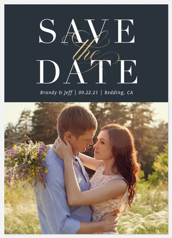Classic Simplicity Save the Date Photo Cards