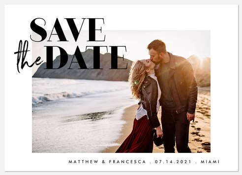 Bold Simplicity Save the Date Photo Cards