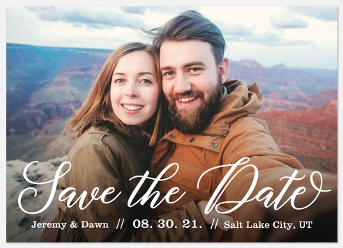 Sweet Calligraphy Save the Date Photo Cards