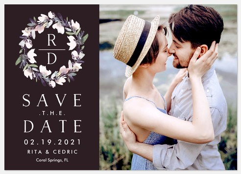 Lovely Wreath Save the Date Photo Cards