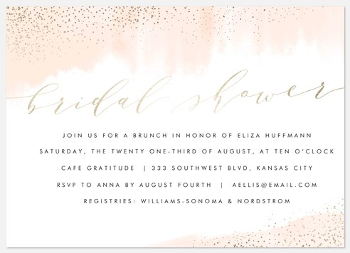 Rosy Chic Bridal Shower Invitations