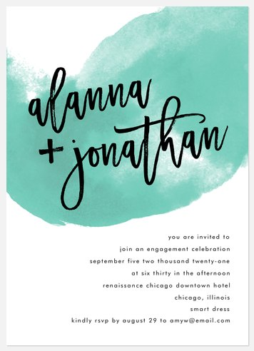 Ocean Wave Engagement Party Invitations