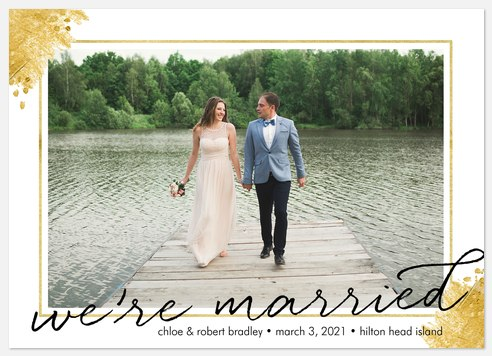 Gilded Accents Wedding Announcements