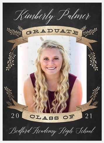 Blossoming Banner Graduation Cards