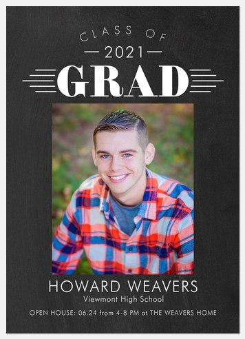 Deco Marquee Graduation Cards