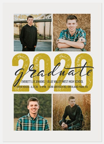 Stenciled Year Graduation Cards
